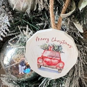 Farmhouse Rustic Christmas Tree Truck Ornament